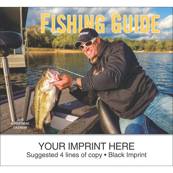 Imprinted Fisherman's Guide appointment calendar