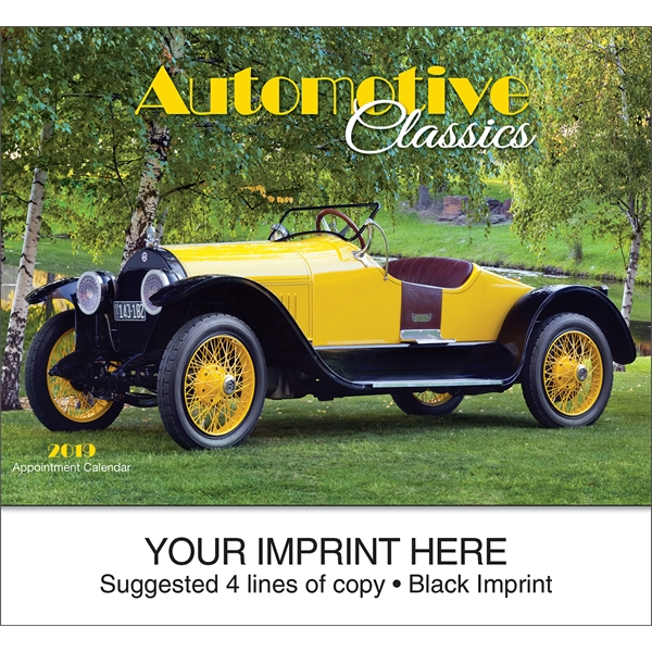 Personalized Automotive Classics appointment calendar
