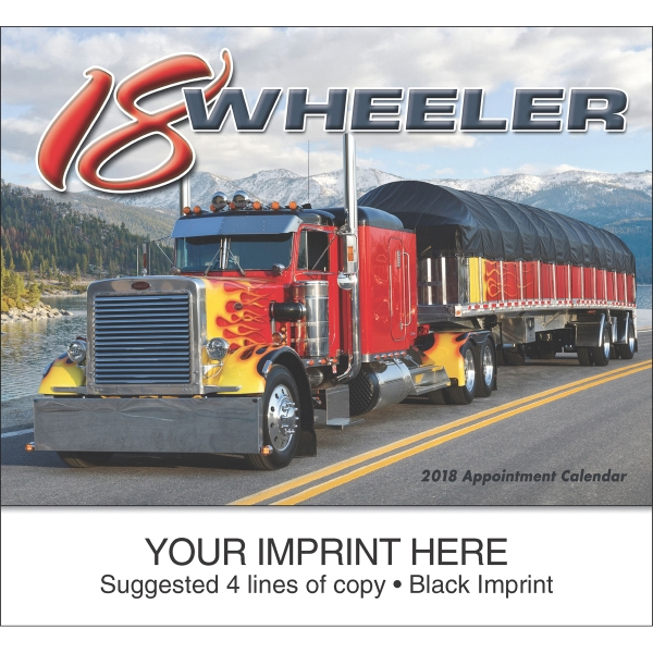 Printed 18-Wheeler appointment calendar