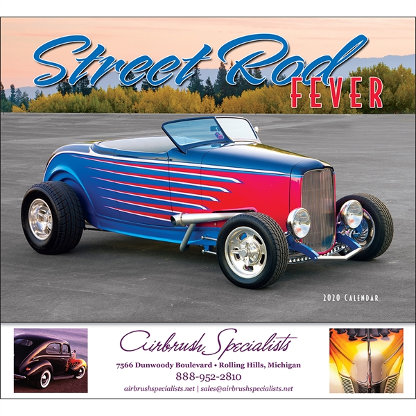 Imprinted Street Rod Fever appointment calendar