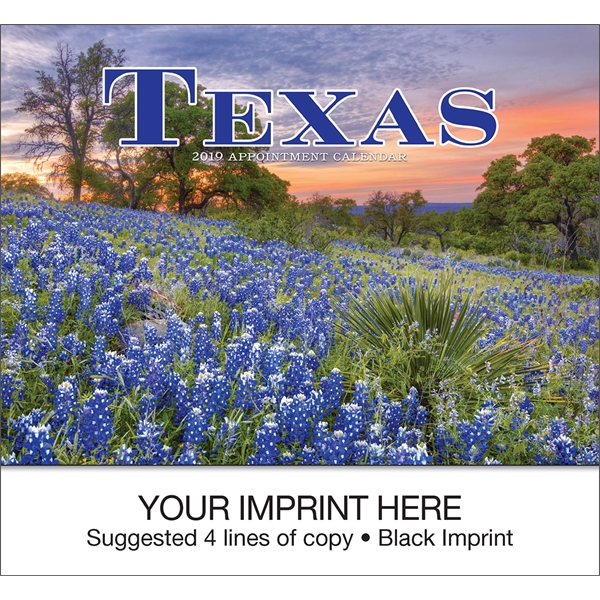 Imprinted Texas appointment calendar