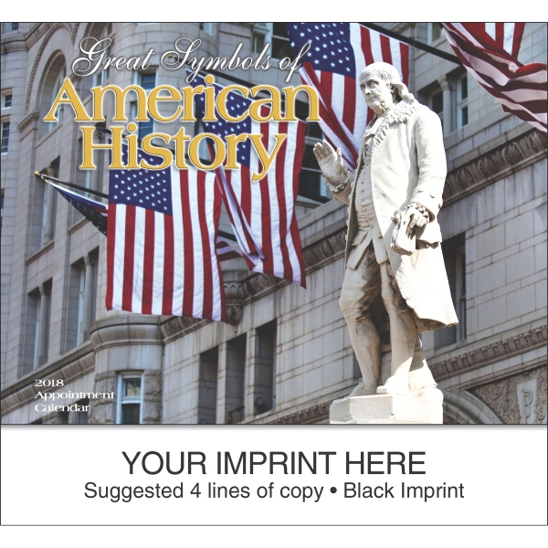 Personalized Great Symbols of American History appointment calendar
