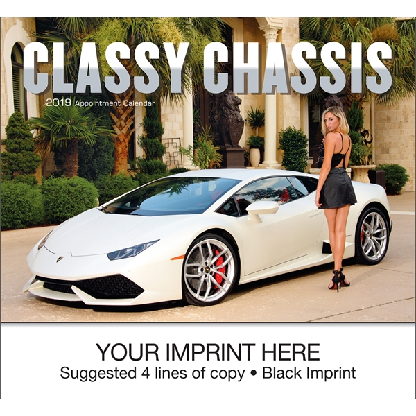 Imprinted Classy Chassis (R) appointment calendar