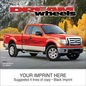 Printed Dream Wheels appointment calendar