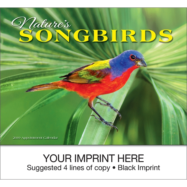 Promotional Nature's Songbirds appointment calendar