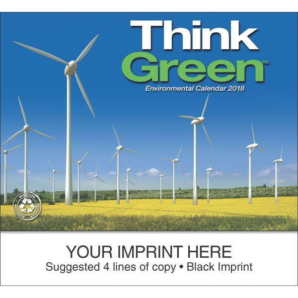 Personalized Think Green (TM) appointment calendar
