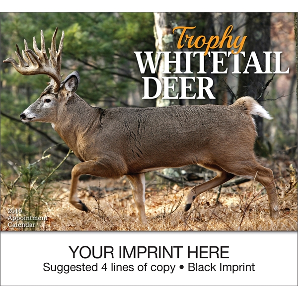 Personalized Trophy Whitetail Deer appointment calendar