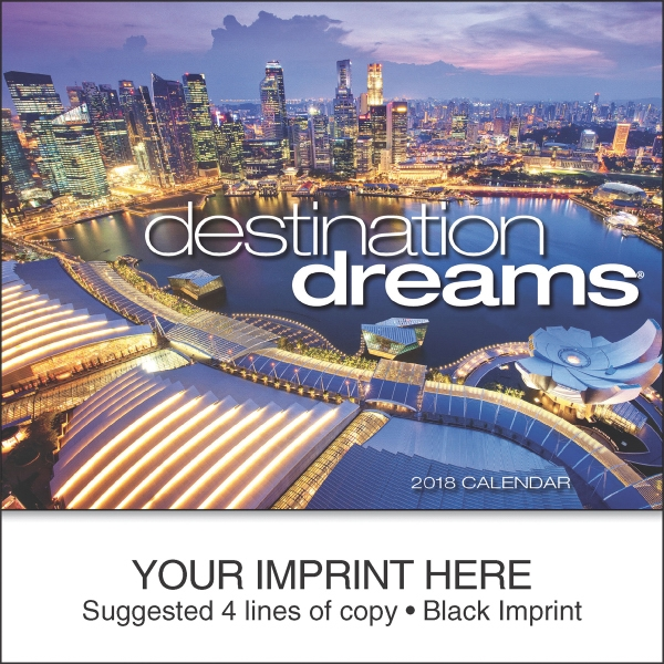 Custom Destination Dreams (R) miniature calendar