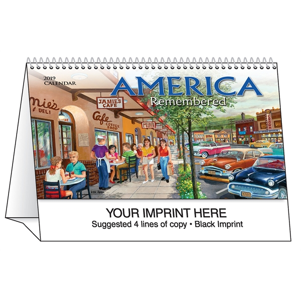 Promotional America Remembered desk tent calendar