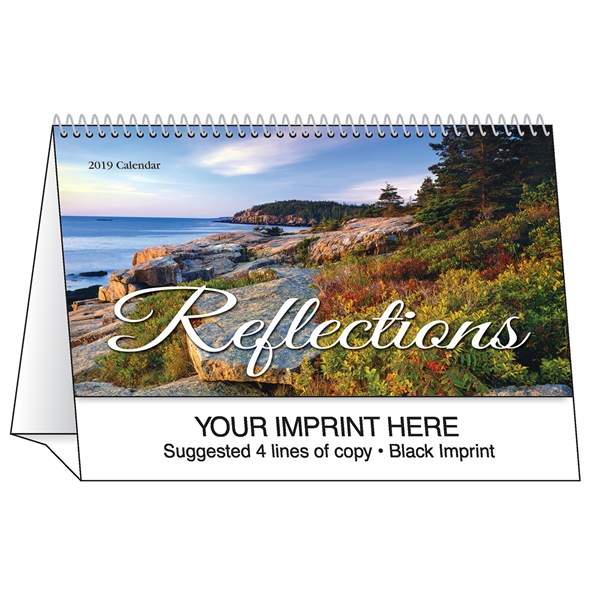 Printed Reflections desk tent calendar
