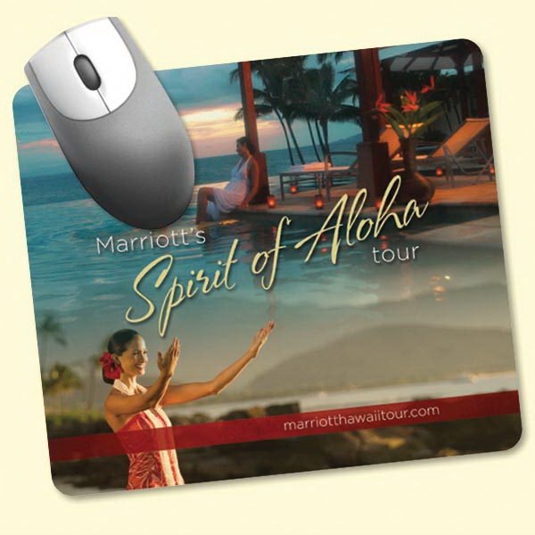 "Promotional Origin'L Fabric® 7""x8""x1/4"" Fabric Mouse Pad"