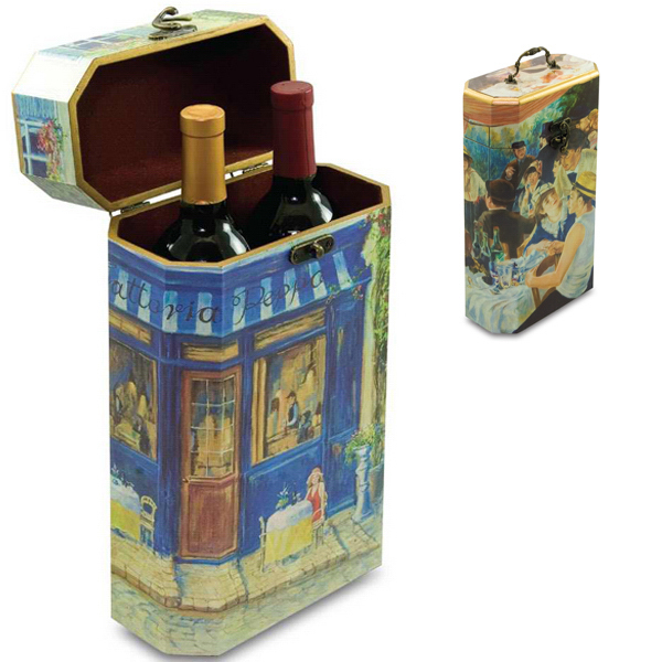 Customized Two Bottle Artist Wine Box - Impressions
