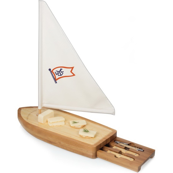 Personalized Sailboat Cheese Board