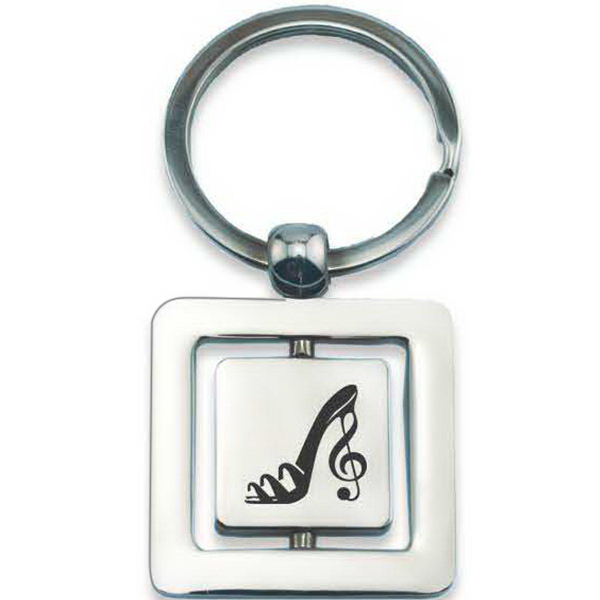 Promotional Square Spinner Metal Key Holder
