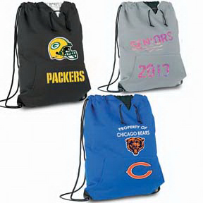 Personalized Jersey Sweatshirt Drawstring Bag