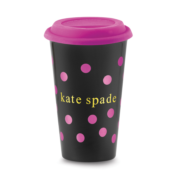 Imprinted Black knight ceramic cup with silicone lid