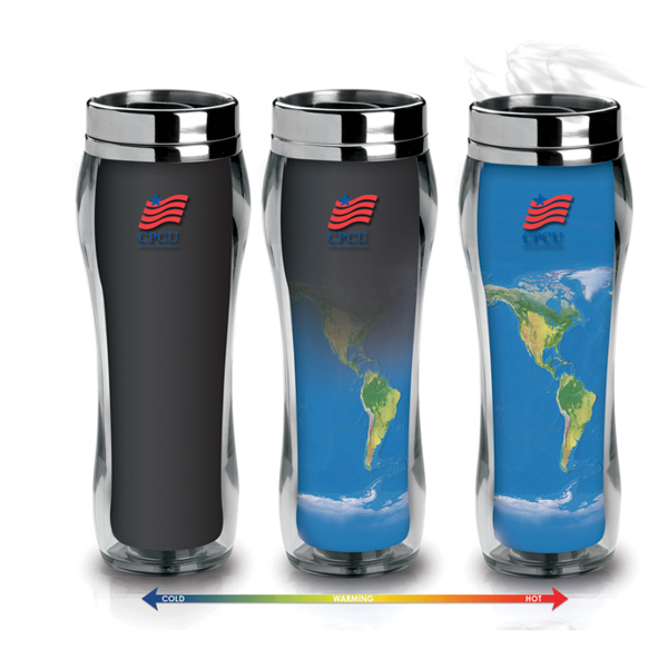 Imprinted Eclipse Global  Patented Heat Changing Tumbler