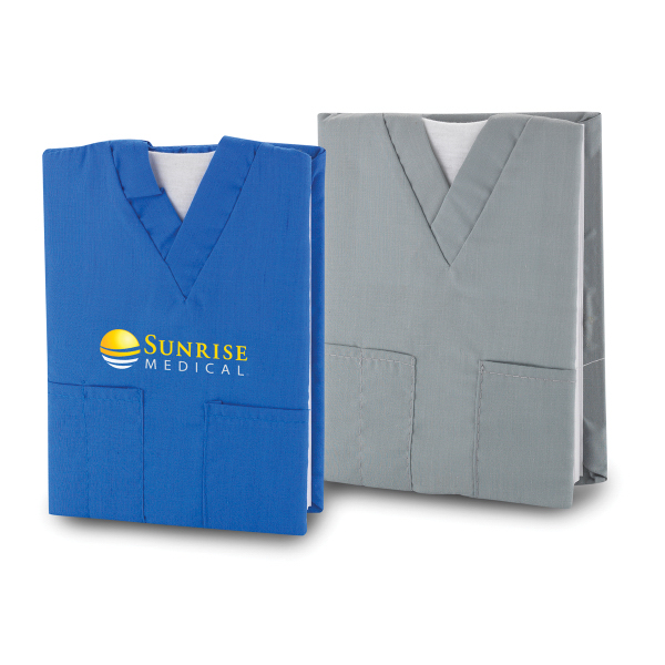 Imprinted Scrubs Notebook with three front pockets