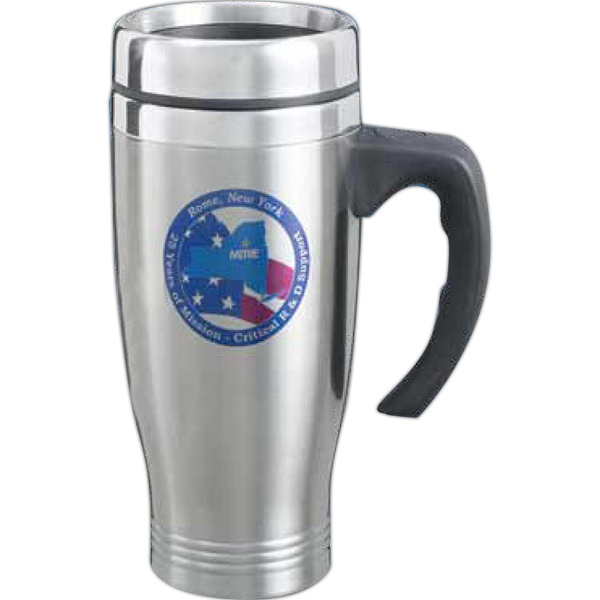 Printed Imperial 18 oz. double wall stainless desk mug