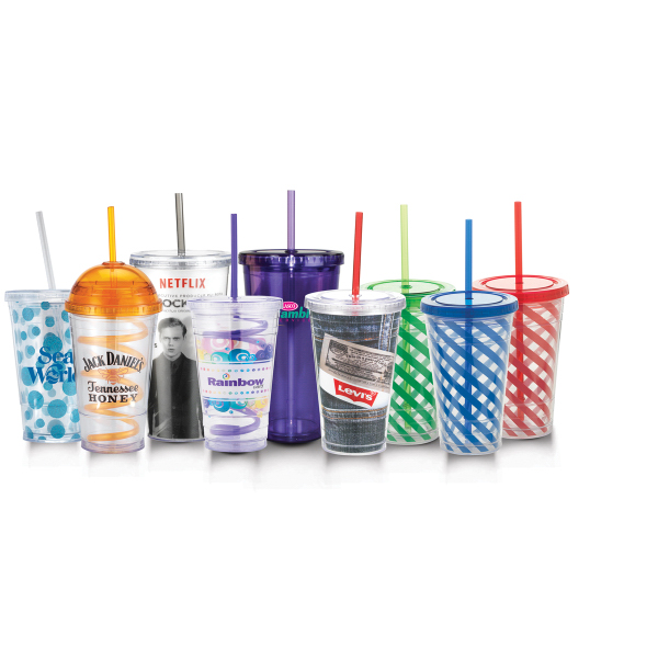 Customized Crazy Straw Tumbler