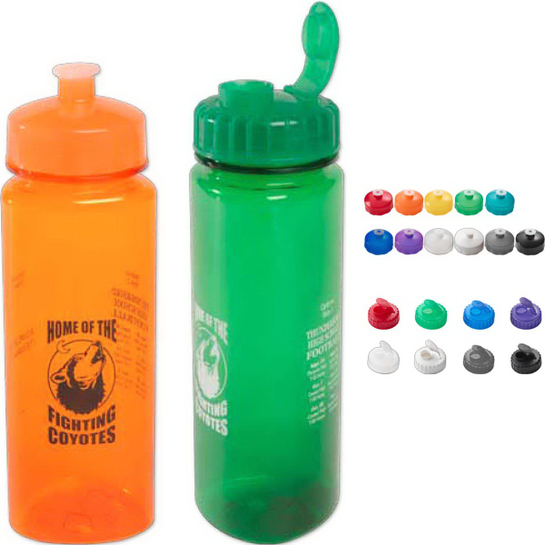 Imprinted 24 oz Polysure (TM) Trinity Bottle