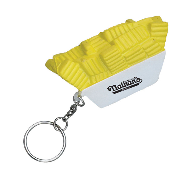 Promotional French Fries Stress Reliever Key Chain