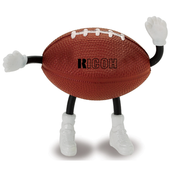 Promotional Football Man Stress Reliever