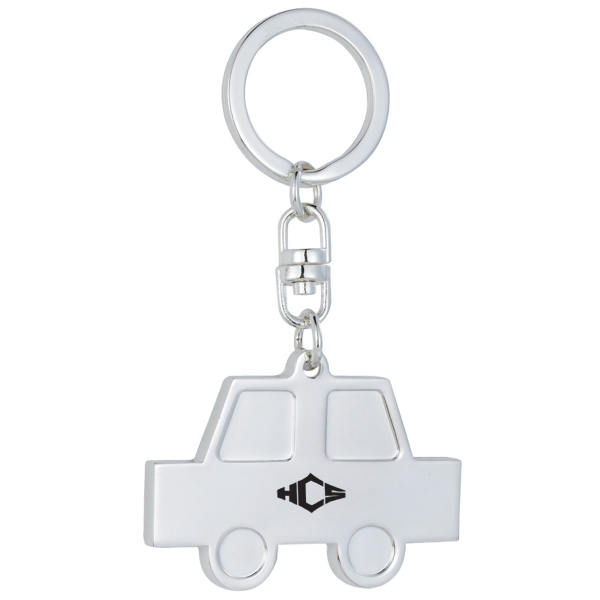 Customized Silver Plated Car Keychain