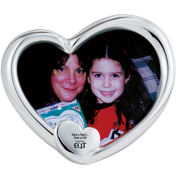 Personalized Silver Plated Heart Picture Frame