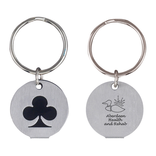Custom Silver Plated Club Keychain