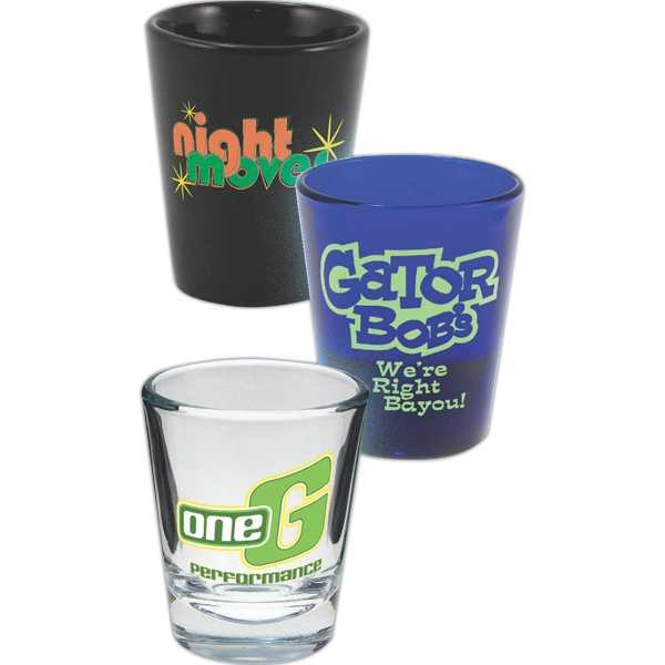 Imprinted Cobalt 1.5 oz. Shot Glass