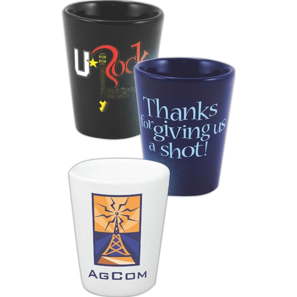 Personalized Cobalt Ceramic Shot Glass