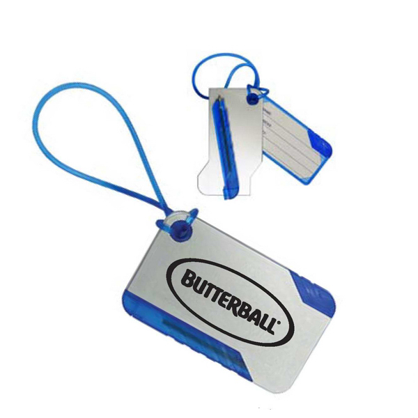 Promotional Luggage Tag with Pen