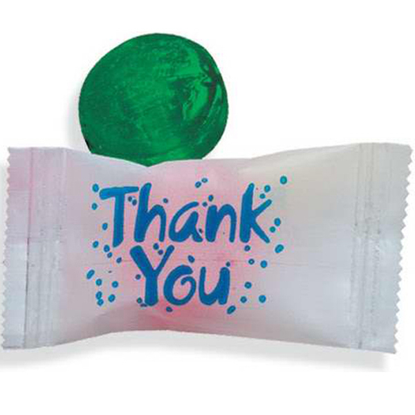 """Custom Stock Wrapped Individual """"Thank You"""" Candy"""