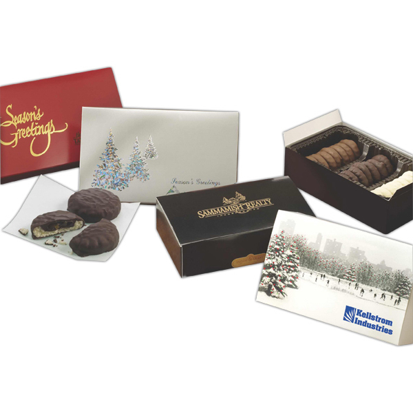 Printed The Contemporary Gift Box with Gourmet Cookie Selection