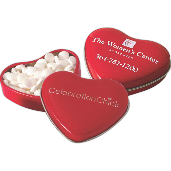 Promotional Sweet Heart Shaped Tin Filled with MicroMints®