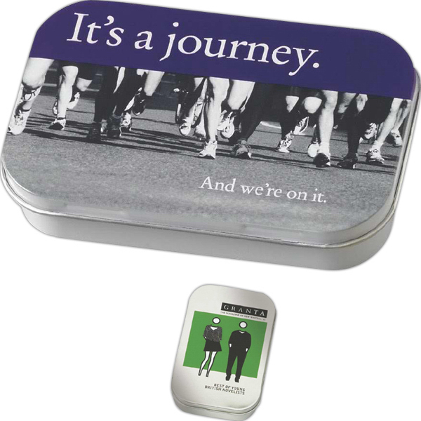 Customized Rectangular Tin Filled with Peppermint or Cinnamon Mints