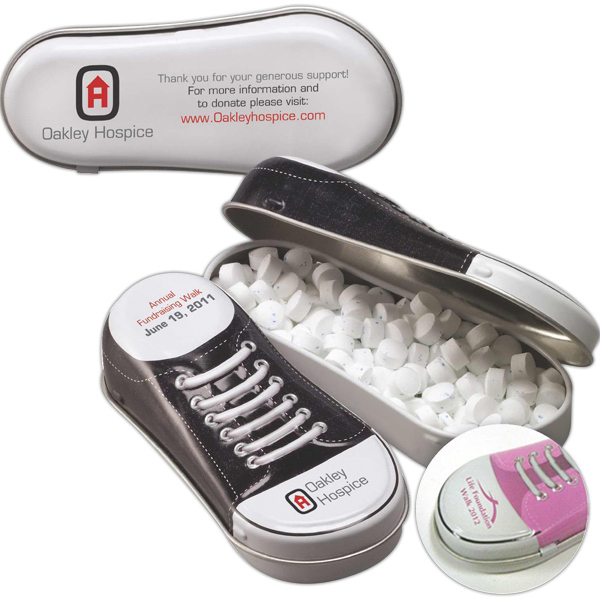 Personalized Sneaker Shaped Tin Filled with Mints