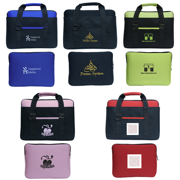 Imprinted Neoprene Laptop Sleeve with Carry Bag