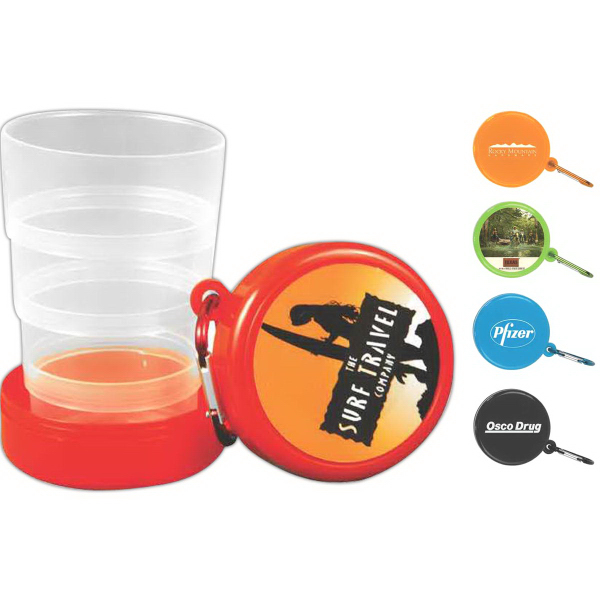 Customized Pop Up 6 oz Pop Up Cup with Carabiner