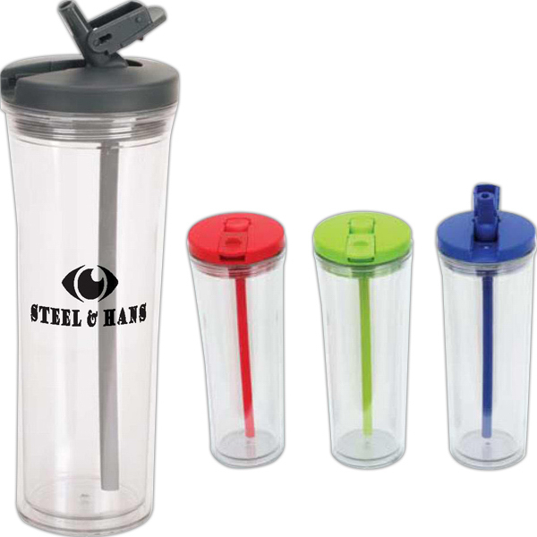 Custom Clamp 19 oz. Tumbler with Seal Tight Lid