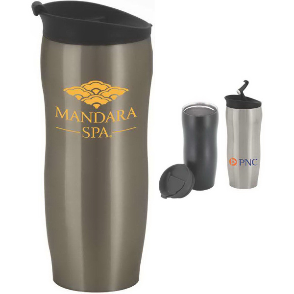 Printed Quince 15 oz. Double-Wall Stainless Steel Tumbler