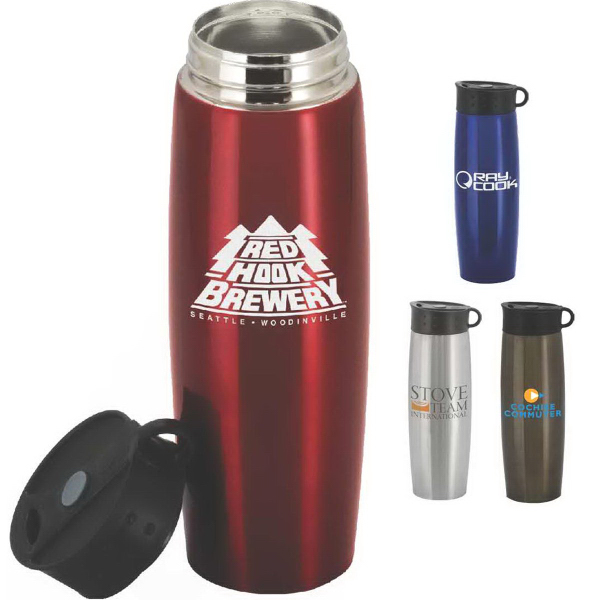Imprinted Quixote 16 oz. Double-Walled Stainless Steel Tumbler