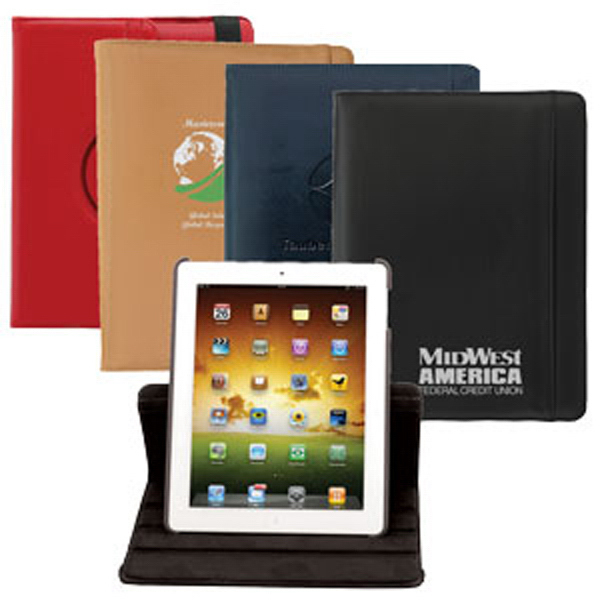 Custom Simulated Leather Case w/ Rotary Stand for iPad 2 & New iPad