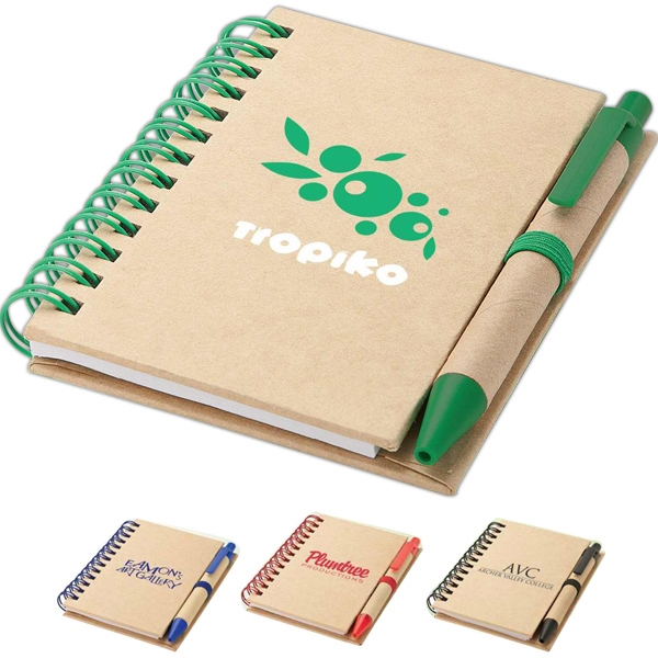 Promotional Recycled notebook and pen