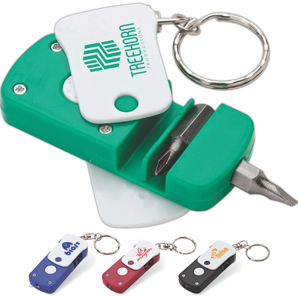 Imprinted Screwdriver LED keyring