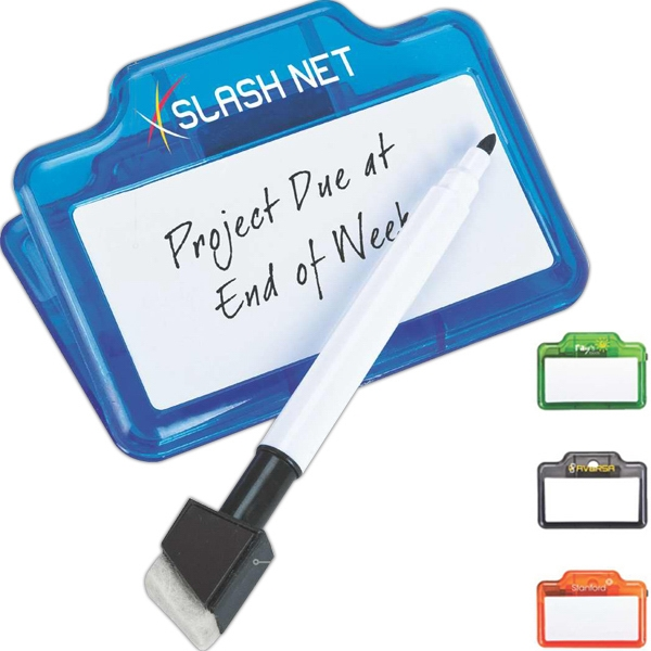 Custom Dry-erase and memo clip
