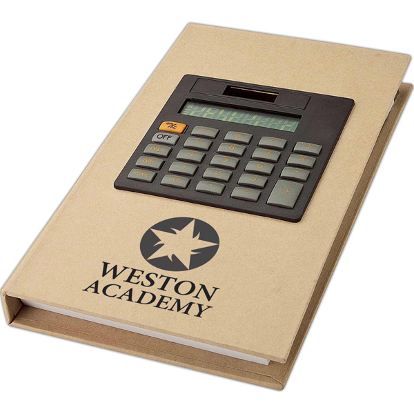 Promotional Recycled notebook and calculator
