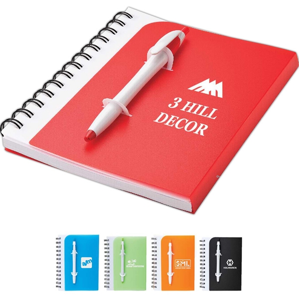 Printed Junior notebook and pen