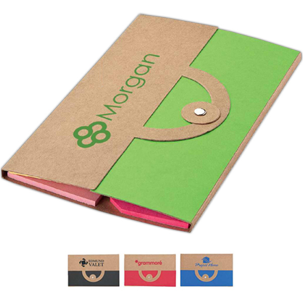 Personalized Recycled note and flag set